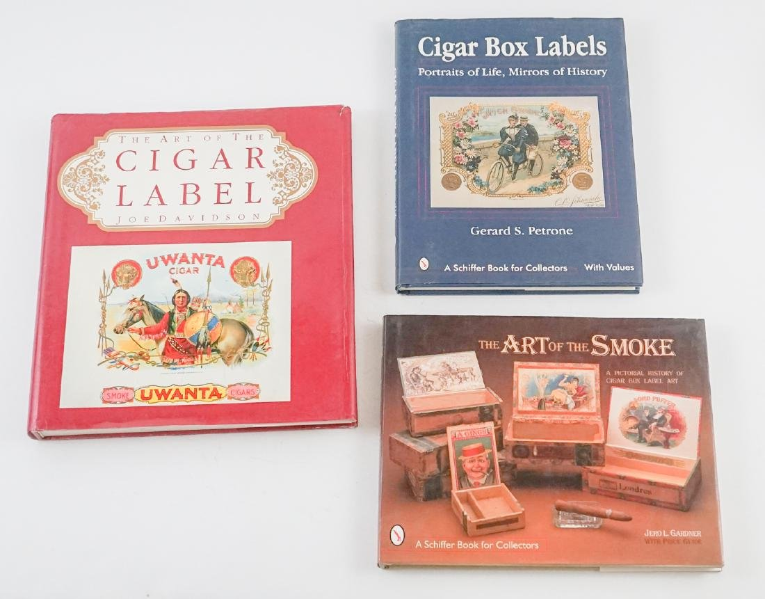Three Cigar Box Label Collector Hardcover Books