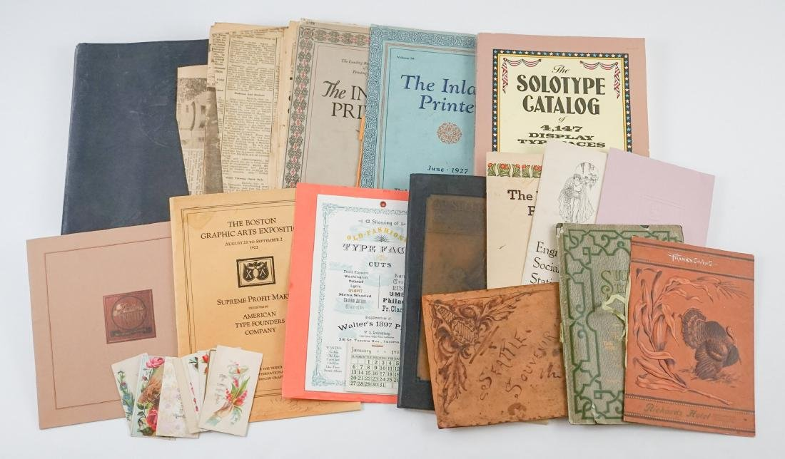 Antique Printers Sample Books and more