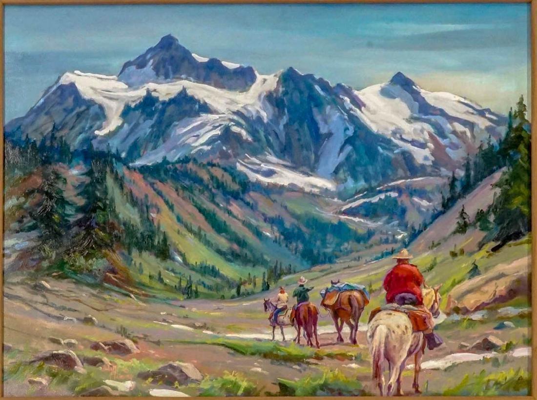 Hulan Fleming (born 1933) Framed Oil