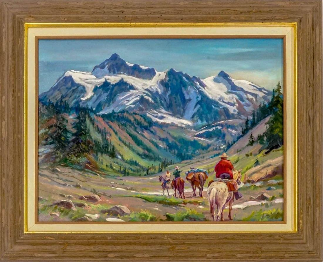 Hulan Fleming (born 1933) Framed Oil - 2