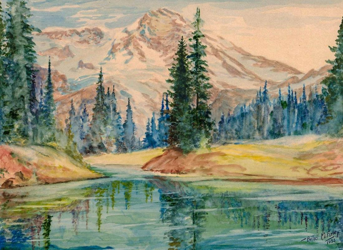 Bethel Morris Farley (1895 - 1985) Watercolor
