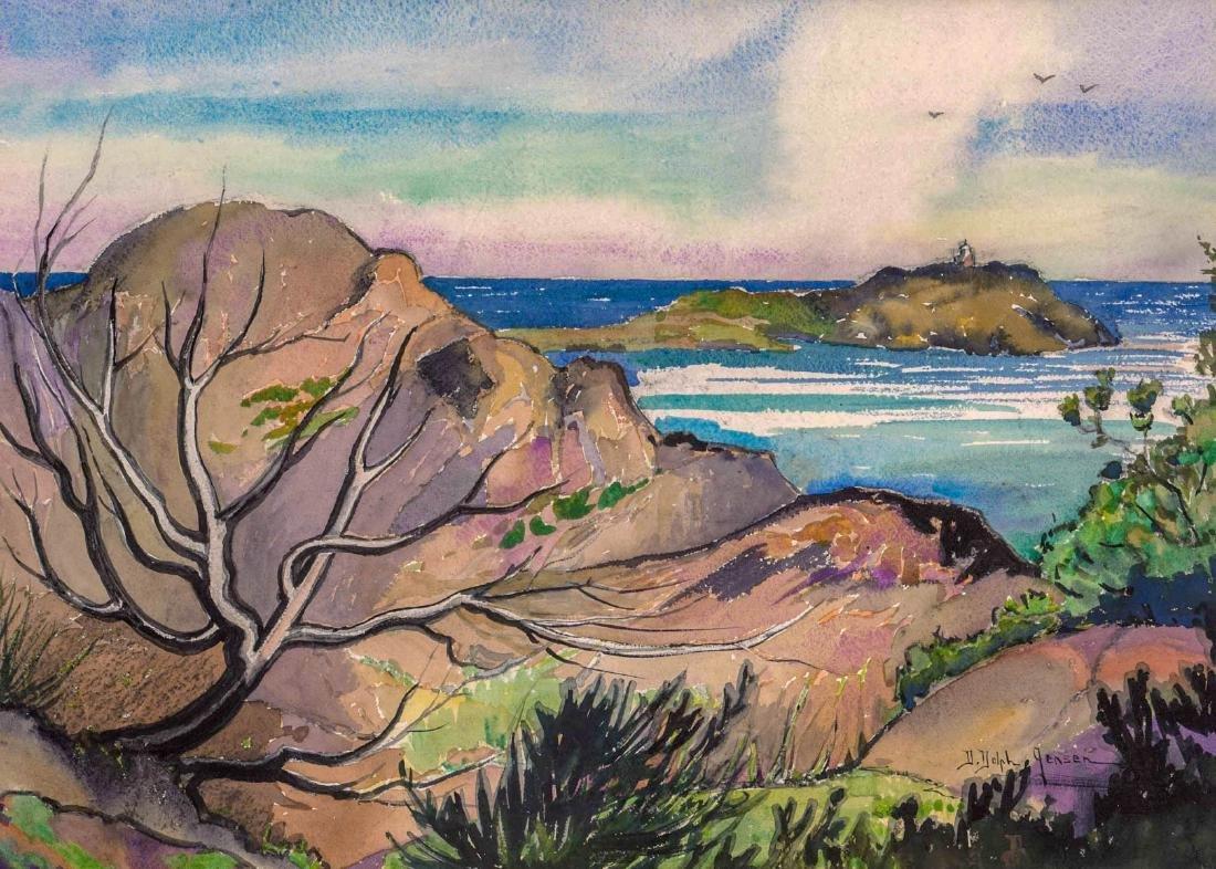 Dorothy Dolph Jensen (Oregon 1895-1977) Watercolor