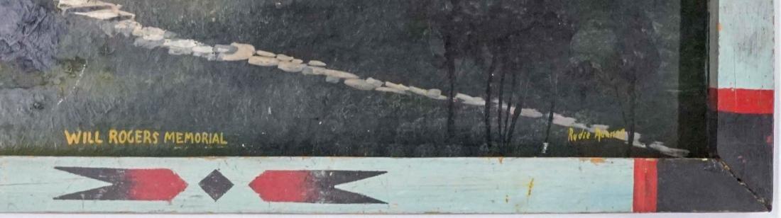 Folk Art Painting of Will Rogers Memorial - 3