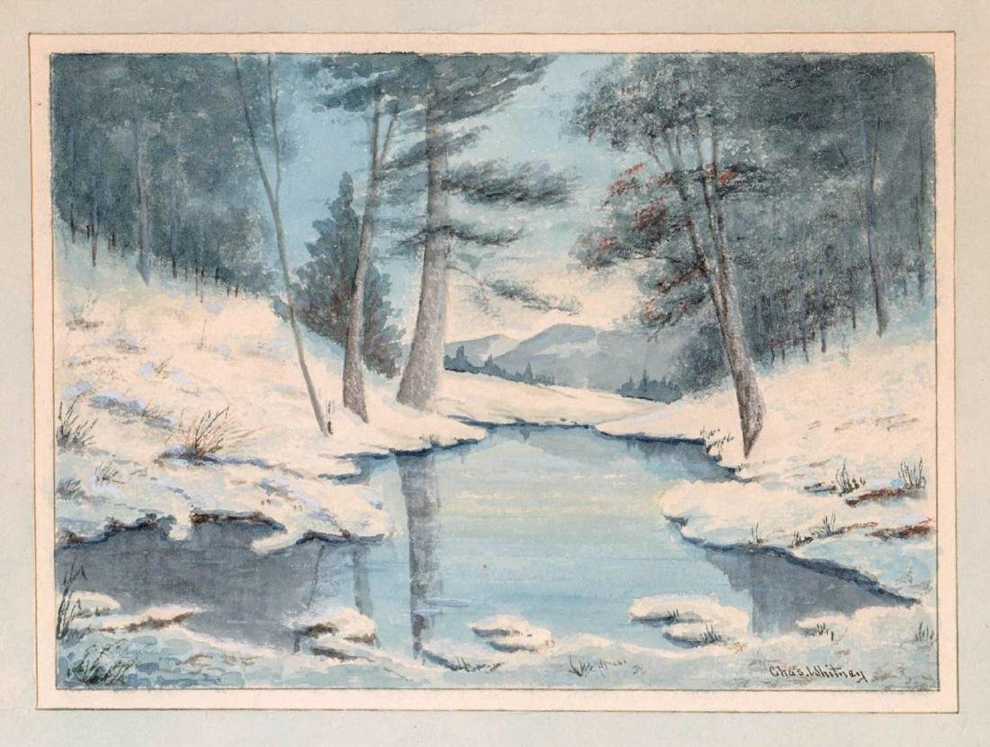 Charles Frederick Whitney (1858 - 1949) Watercolor