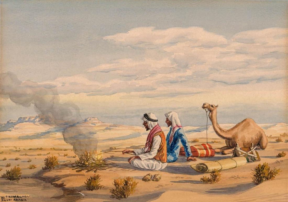Giovanni Romagnoli (1893-1976) Watercolor
