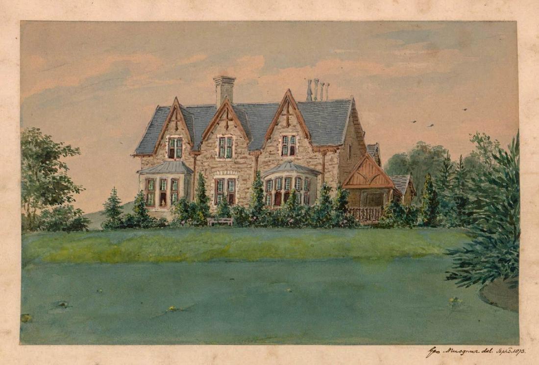 George Musgrave (born 1799) Original Watercolor