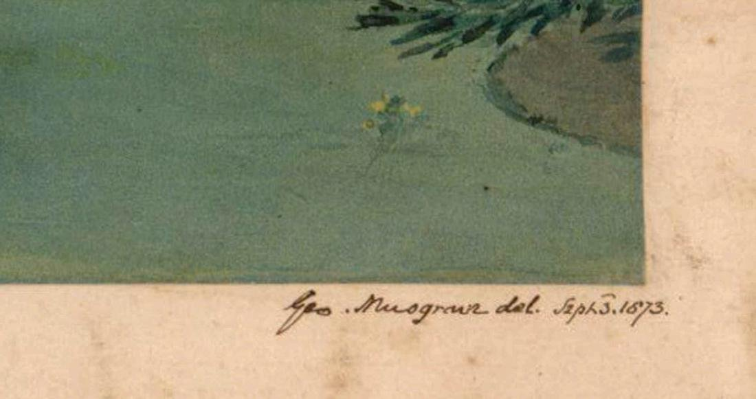 George Musgrave (born 1799) Original Watercolor - 3