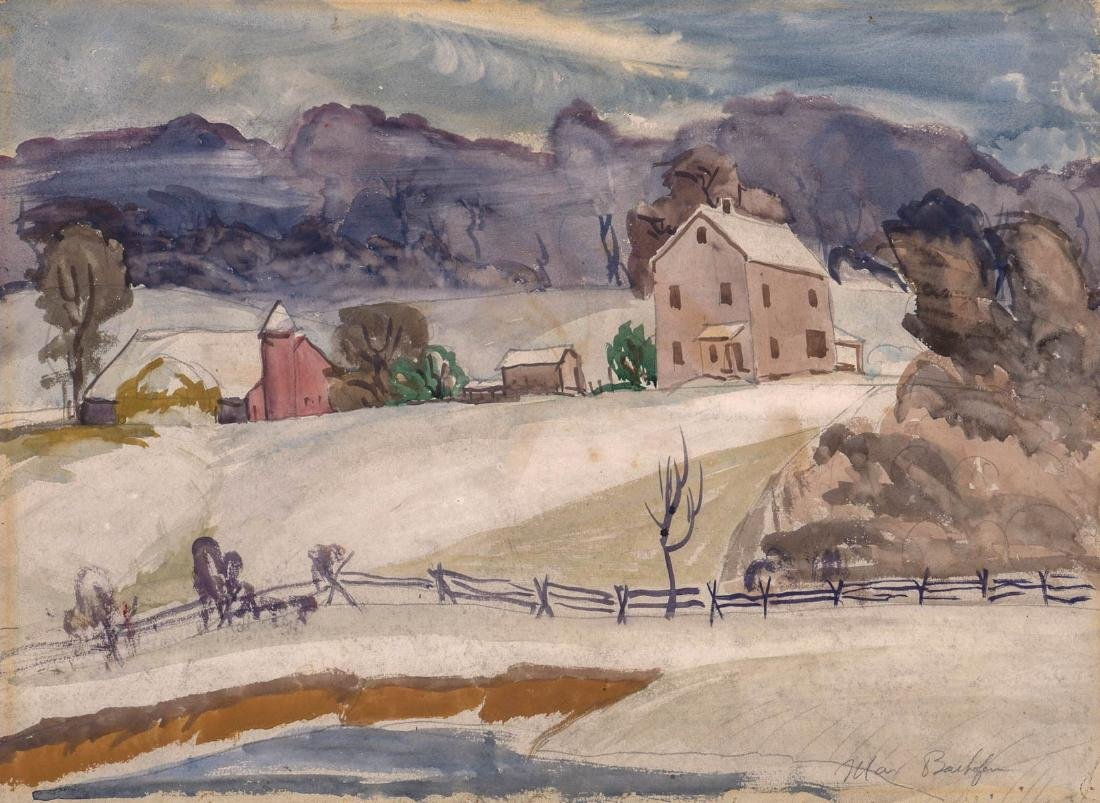 Max Bachofen (1903-1987) Watercolor