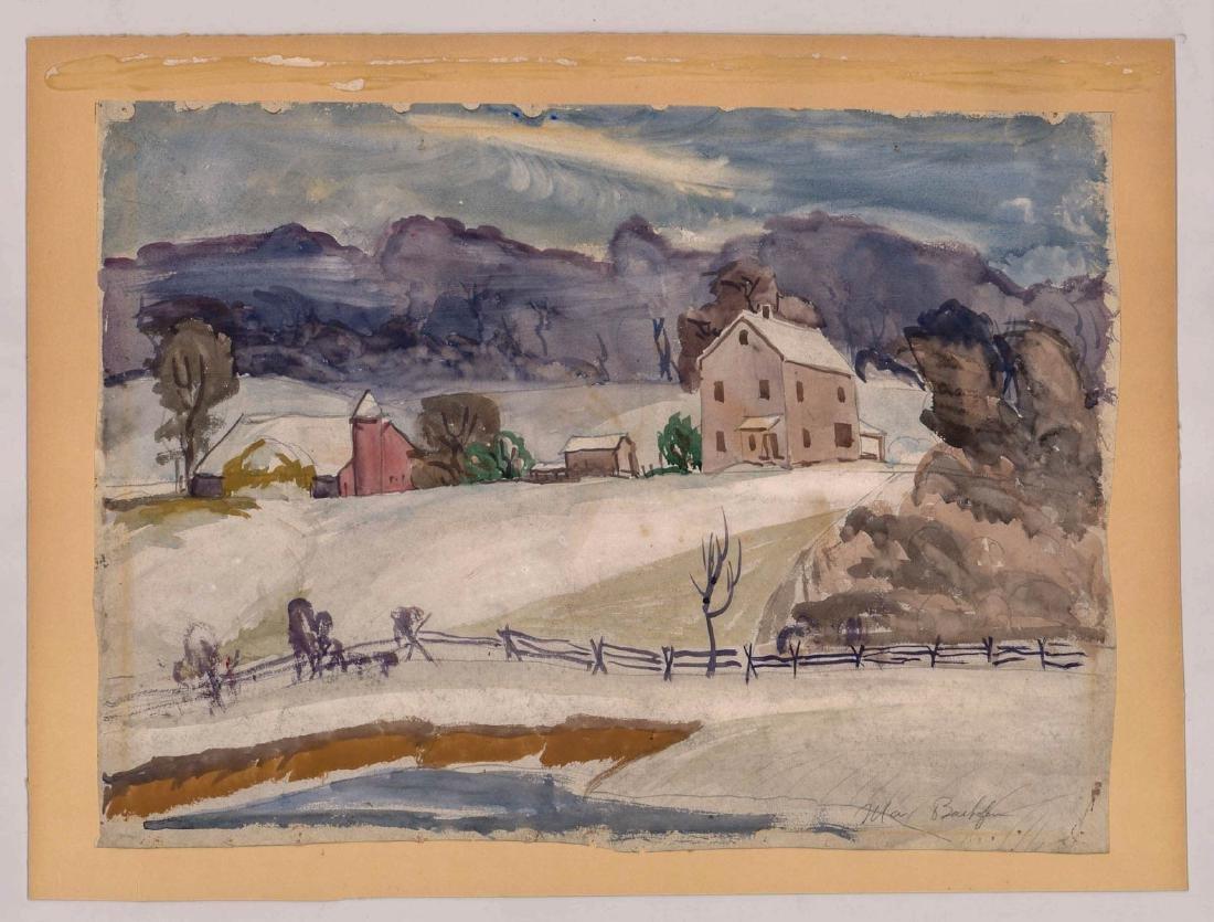 Max Bachofen (1903-1987) Watercolor - 2