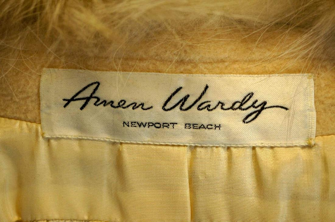 Amen Wardy Wool Fur-Trim Full Length Coat - 3