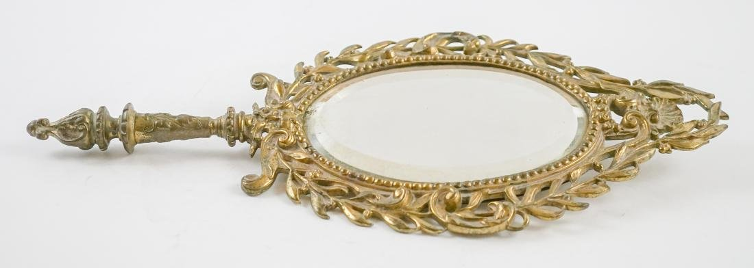 Antique Brass Hand Mirror