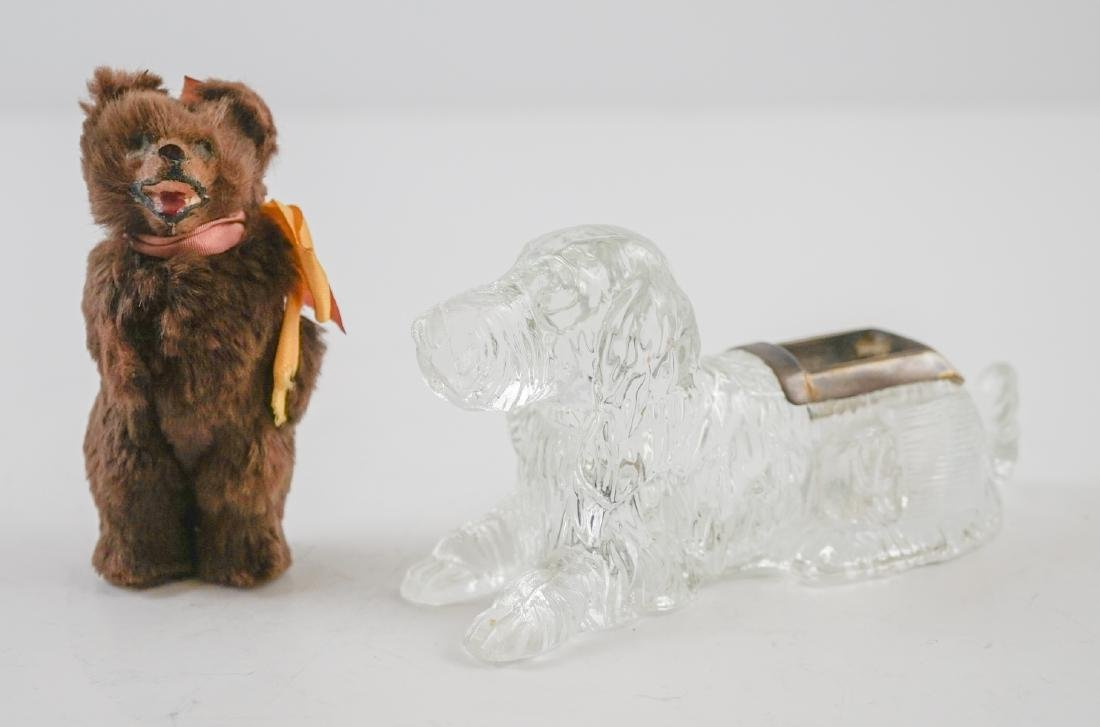 Figural Dog Match holder and Small Bear