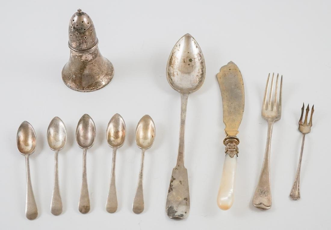 Group of Old Sterling and Silver Plate Items