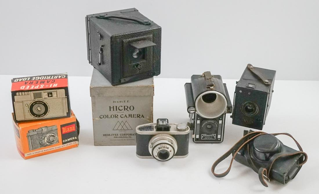 Box of Old Cameras
