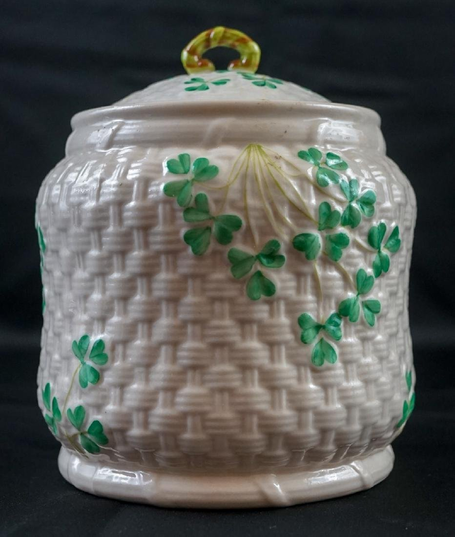 Two Belleek Covered Shamrock Pieces - 2