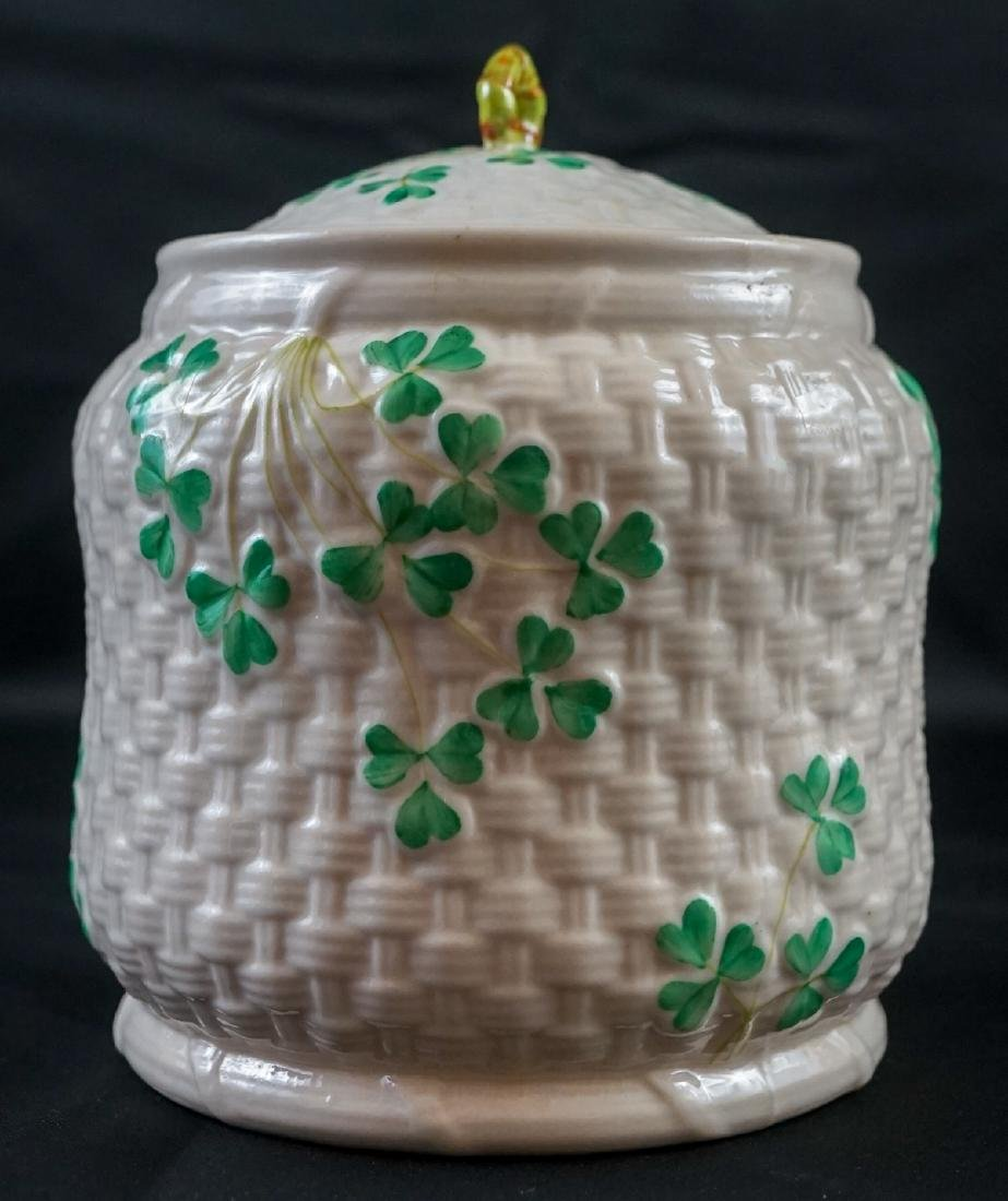 Two Belleek Covered Shamrock Pieces - 3