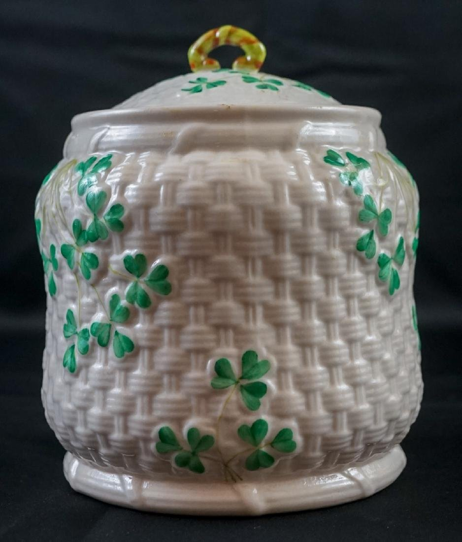 Two Belleek Covered Shamrock Pieces - 4