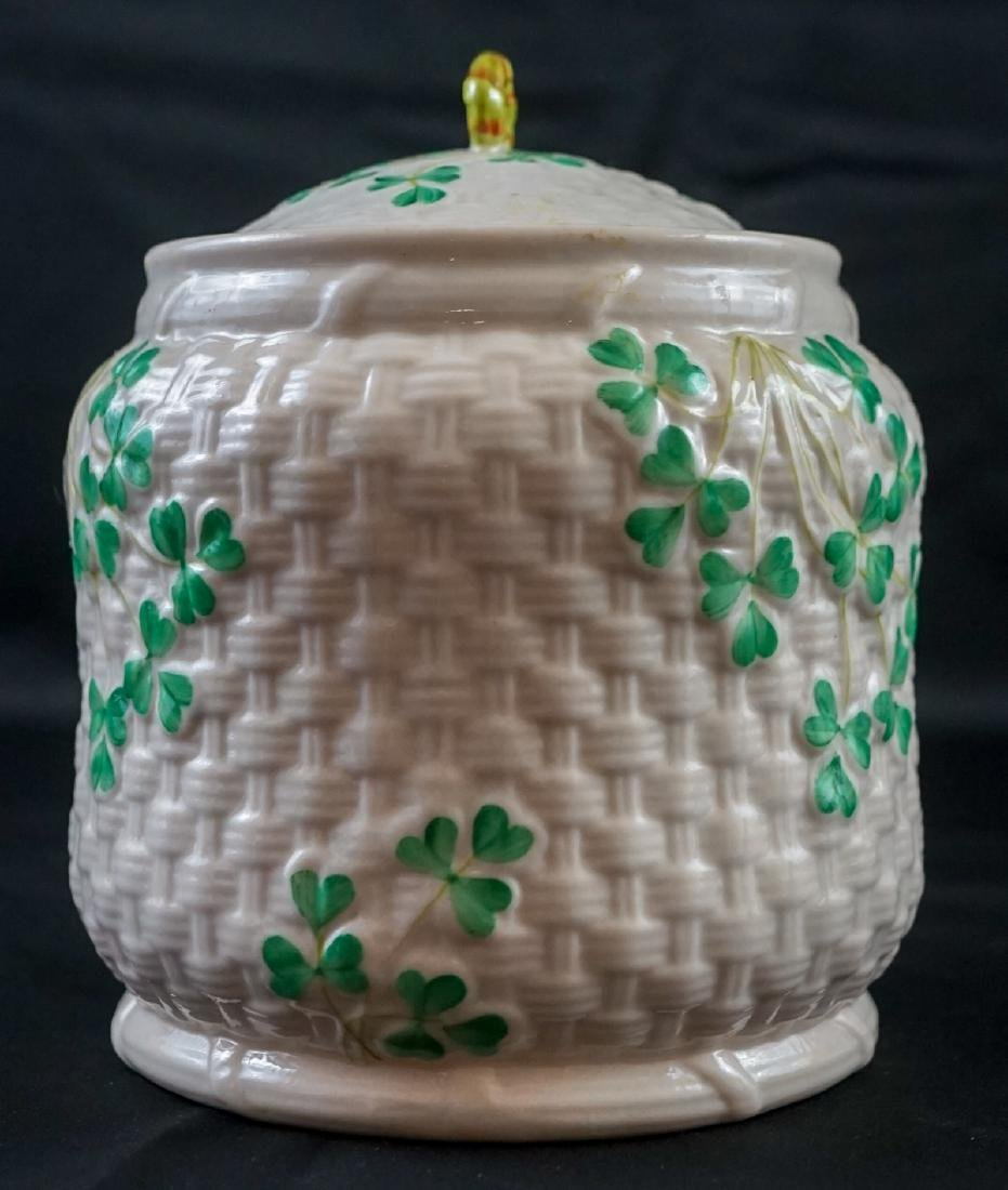 Two Belleek Covered Shamrock Pieces - 5