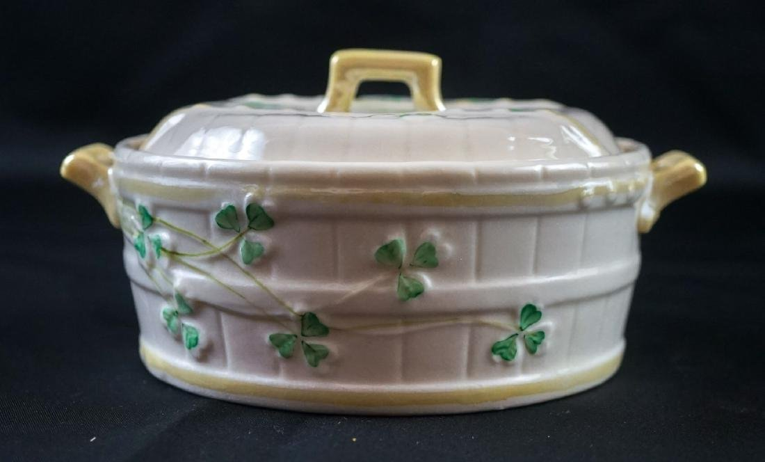 Two Belleek Covered Shamrock Pieces - 8