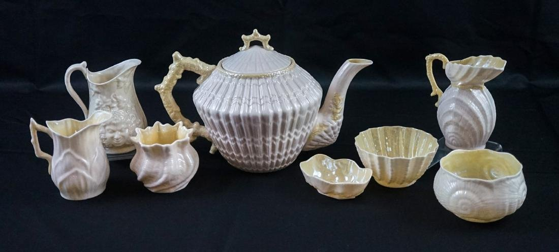 Eight Pieces of Belleek Fine China