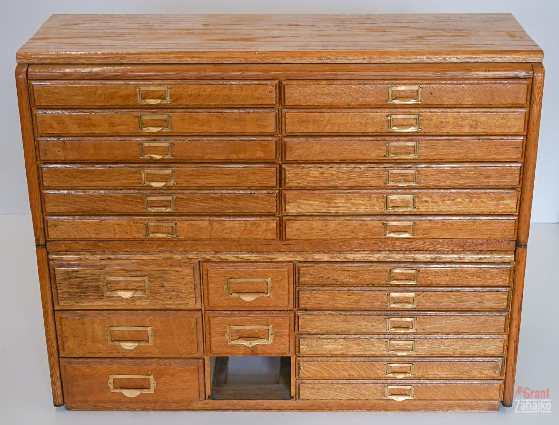 Twenty-Four Drawer Multi-Drawer Cabinet