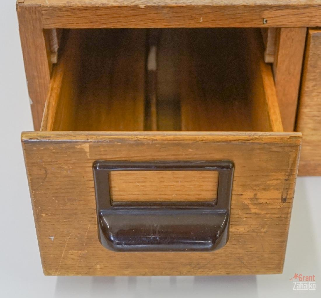 An Old Two Drawer Card File - 2