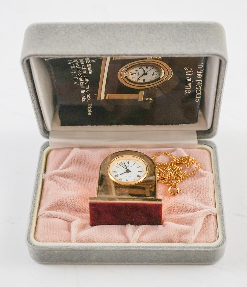 Miniature Clocks by Natico and Bulova - 2