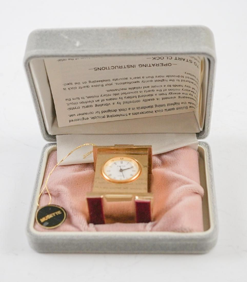 Miniature Clocks by Natico and Bulova - 4
