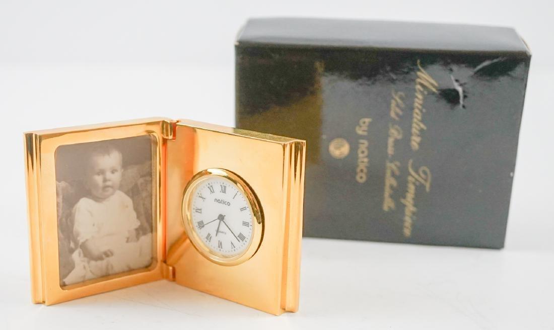 Miniature Clocks by Natico and Bulova - 6