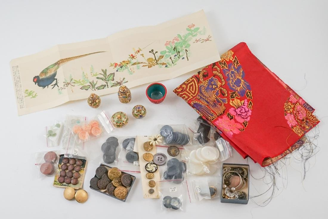 Old Buttons and Asian Items