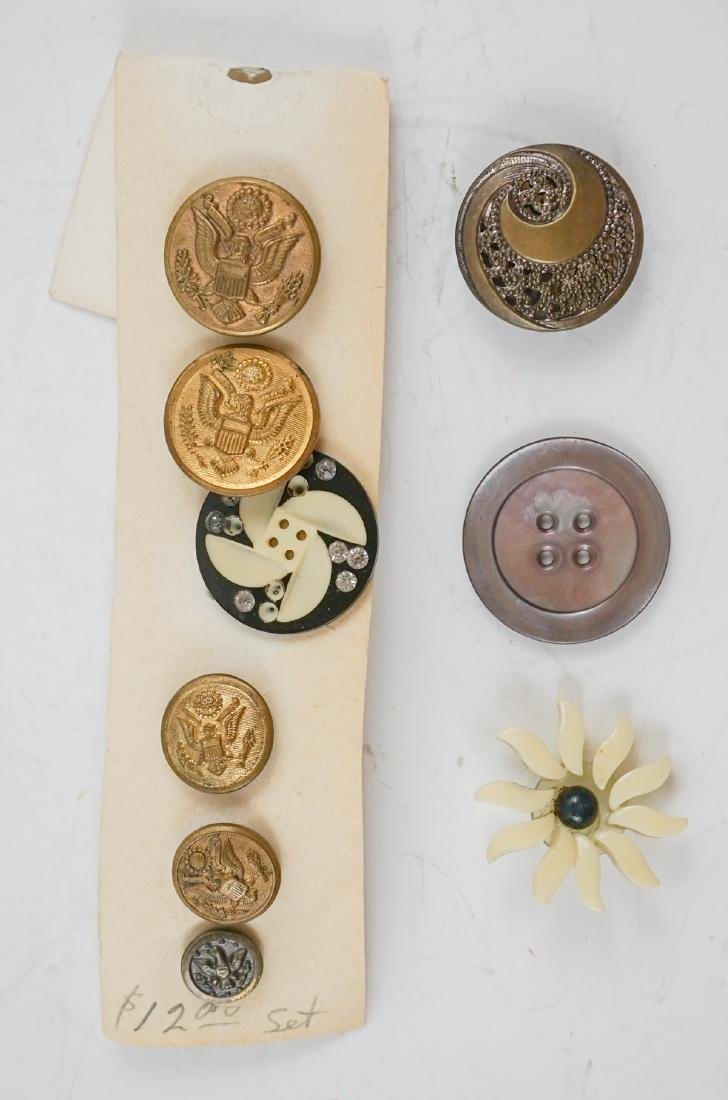 Old Buttons and Asian Items - 3