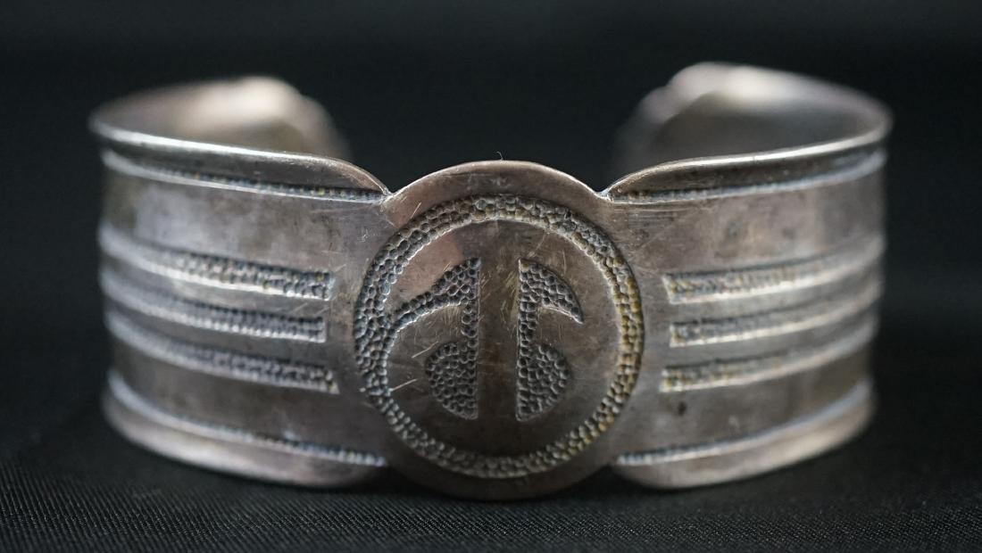 Old Native Signed Cuff Bracelet