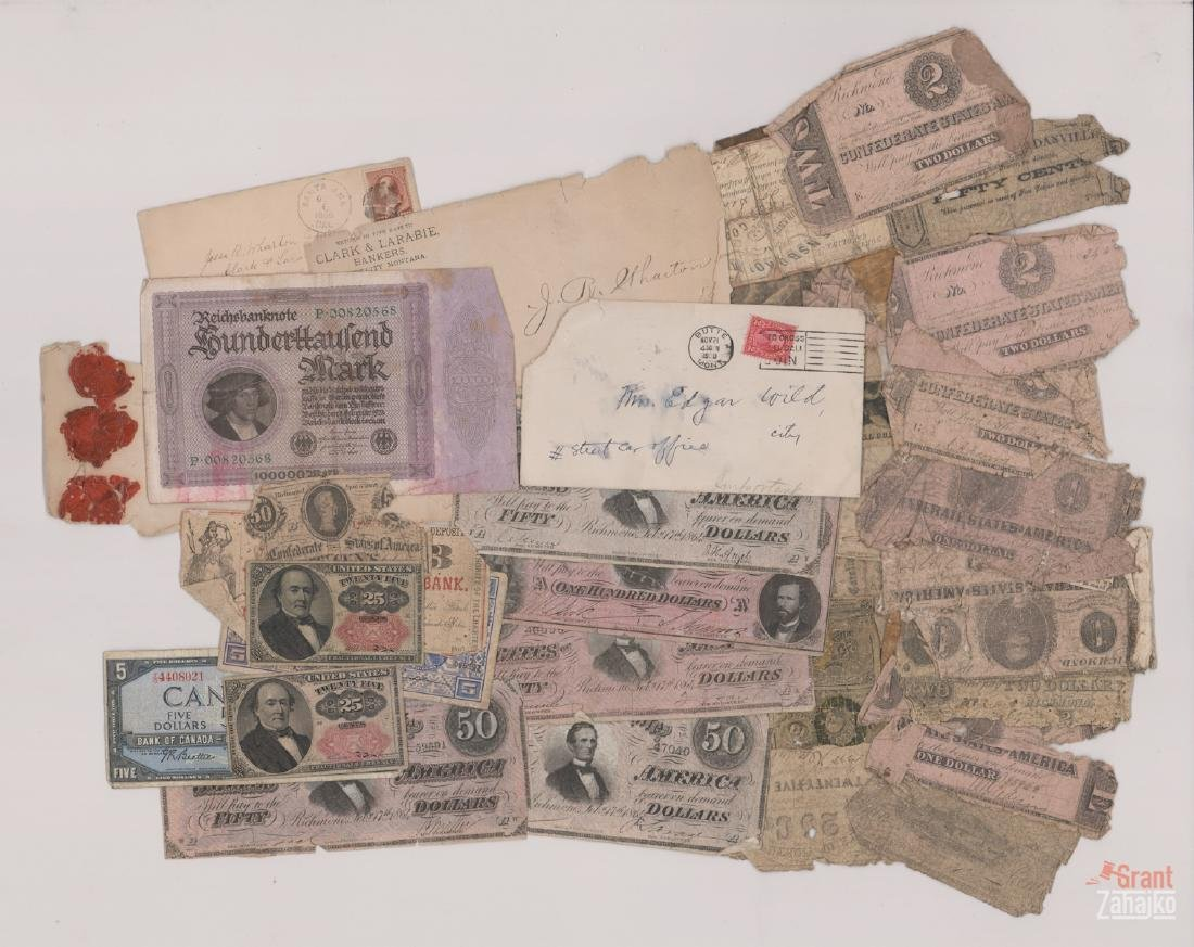 Group of Antique Paper Money