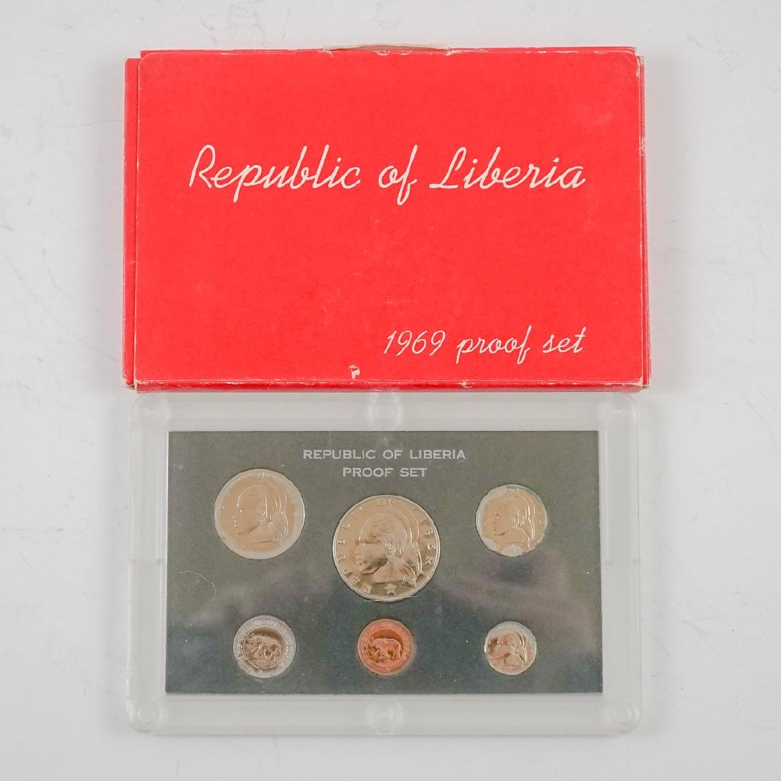 Nine Liberian Proof Sets 1969-1974 - 6