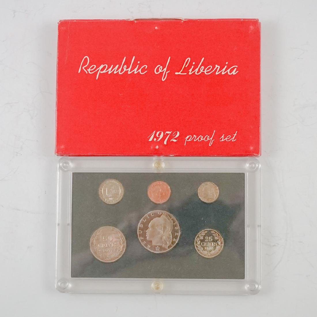Nine Liberian Proof Sets 1969-1974 - 9