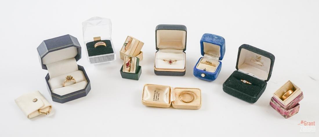 Estate Group of Ten Ladies Gold Rings