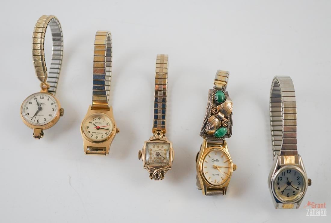 Ladies Wrist Watches, One 14k & One S. Ray Lugs