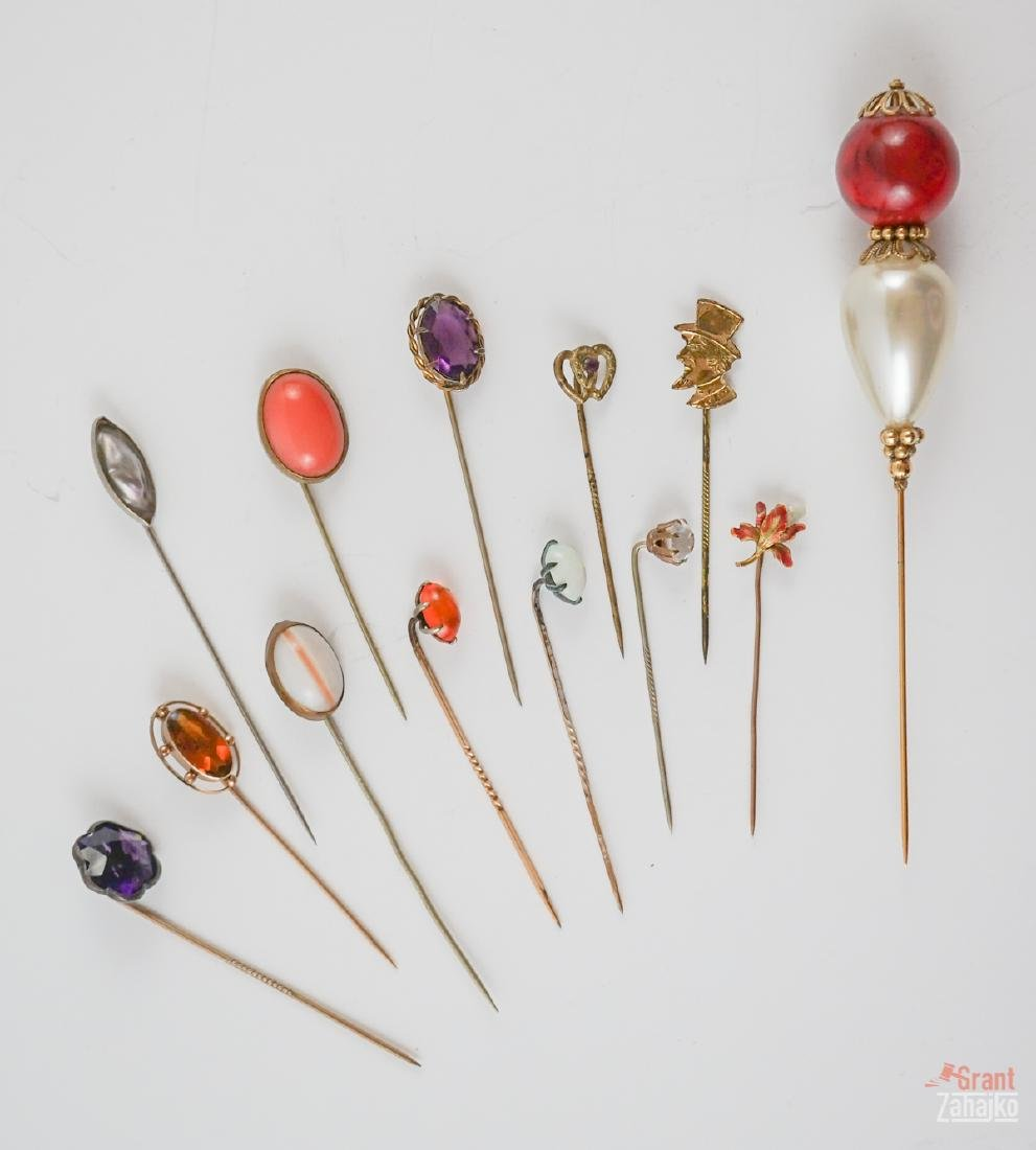 Group of Antique Stick Pins