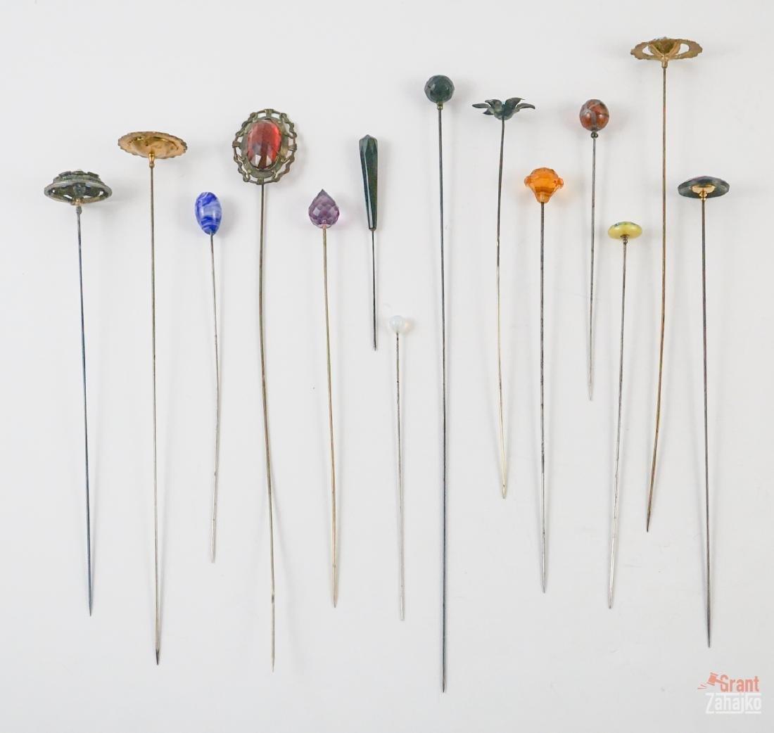 Fourteen Antique Hat Pins