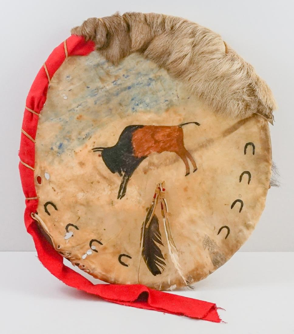 Plains Indian Hide Shield and Dream Catcher - 2