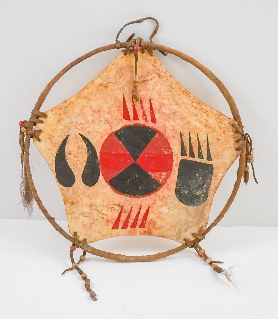 Plains Indian Hide Shield and Dream Catcher - 3