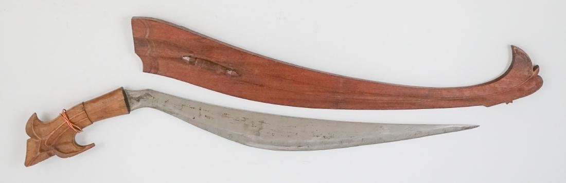 An Ethnic Knife with Wooden Scabbard - 2