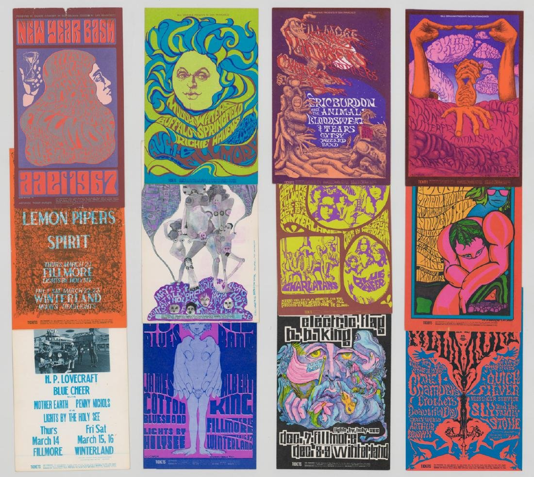 Bill Graham Presents Original Postcards, Handbills