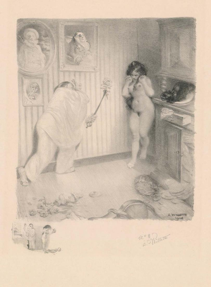 Adolphe Willette (1857-1926) Lithograph