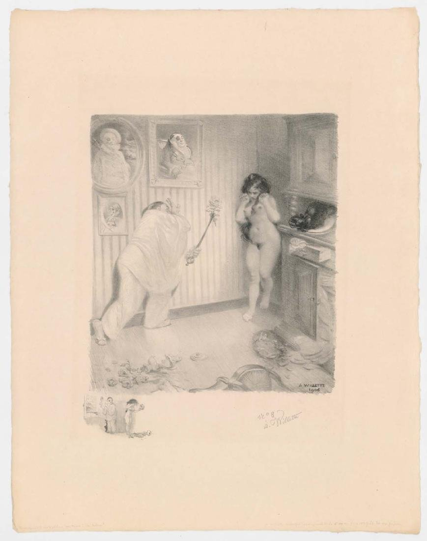 Adolphe Willette (1857-1926) Lithograph - 2