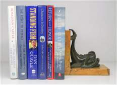 Group of Six Author Signed Books and Letter