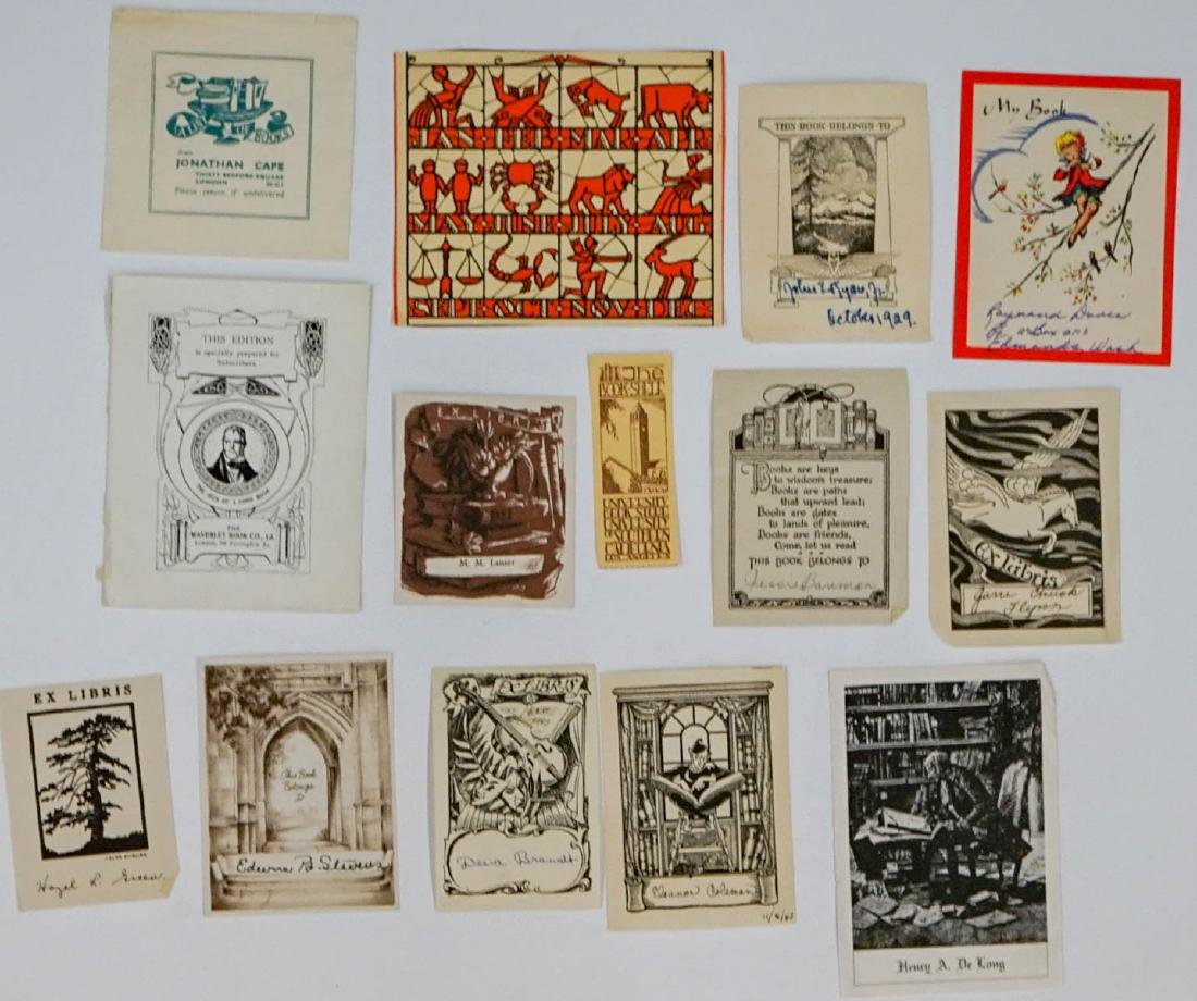 Group of over 50 Bookplates - 2