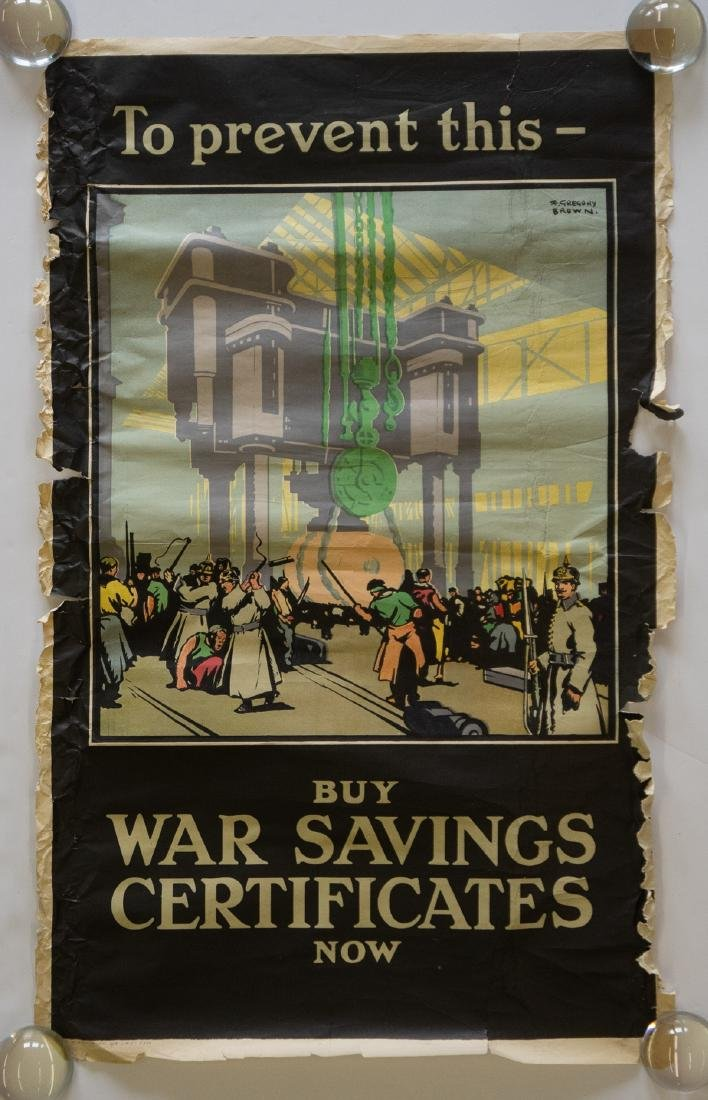 F. Gregory Brown WWI Poster - 2