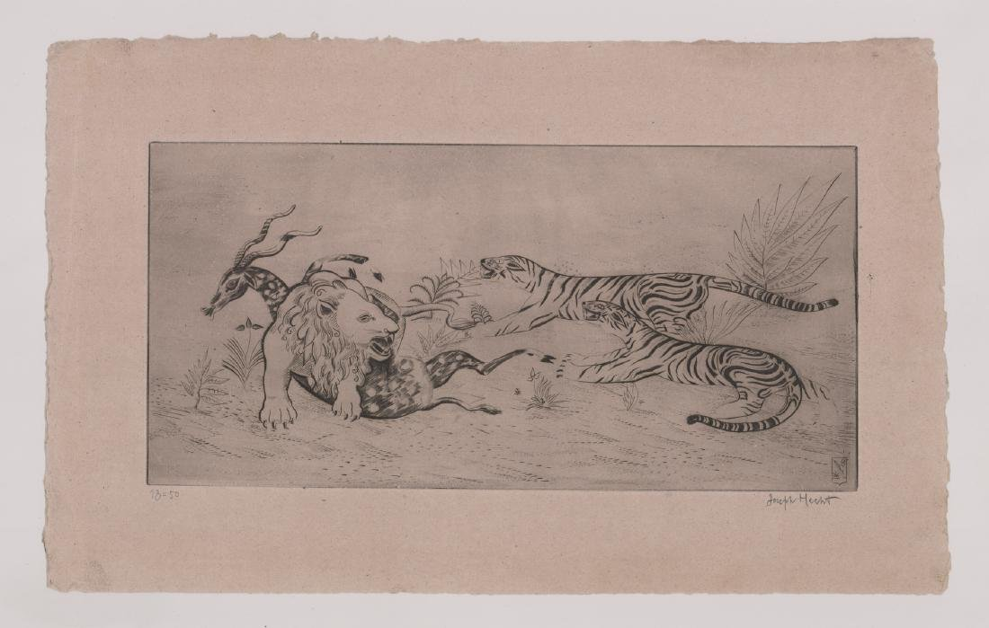Joseph Hecht Pencil Signed Etching - 2