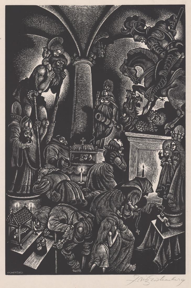 Fritz Eichenberg Woodcut